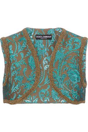 Dolce & Gabbana Women Camisoles - Floral-brocade vest