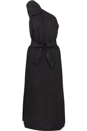 Rebecca Vallance Women Midi Dresses - Layla one-shoulder linen midi dress