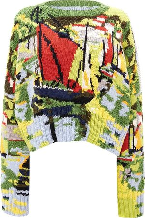 J.W.Anderson Women Jumpers - Sailboat knit wool jumper