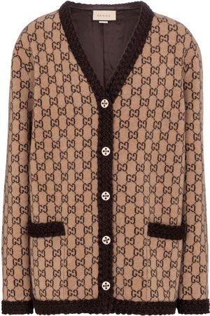 Gucci Women Cardigans - GG jacquard wool cardigan