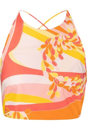 Emilio Pucci Lilly printed cotton crop top