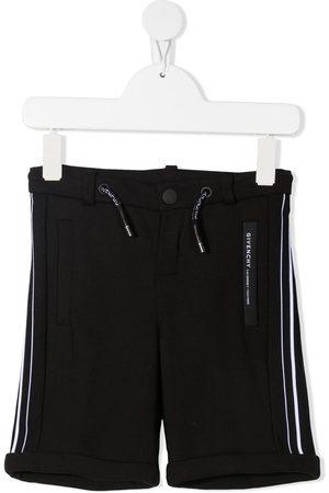 Givenchy Boys Shorts - Striped band high-rise shorts