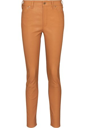 Polo Ralph Lauren High-rise slim leather pants