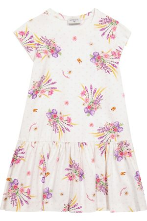 MONNALISA Girls Casual Dresses - Exclusive to Mytheresa – Floral stretch-cotton jersey dress