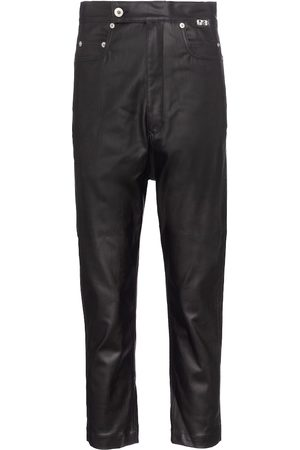 Rick Owens DRKSHDW lacquered cropped jeans