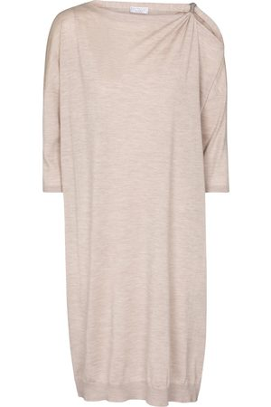 Brunello Cucinelli Cashmere and silk sweater dress