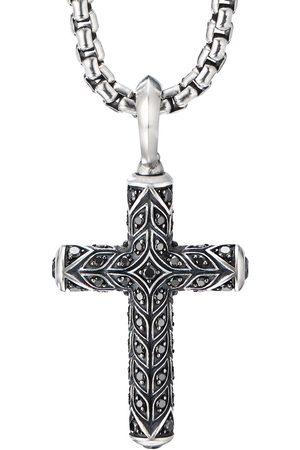 David Yurman Sterling diamond cross