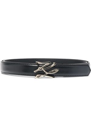 Karl Lagerfeld Logo-plaque leather belt