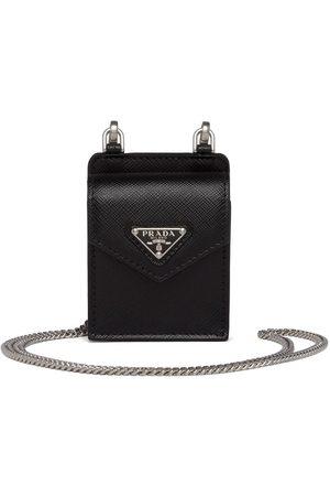Prada Women Phone Cases - Saffiano leather earphone case