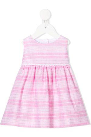 SIOLA Striped tie-fastening dress