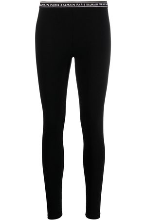 Balmain Women Leggings - Logo waistband stretch leggings