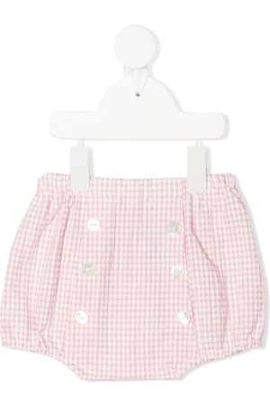 SIOLA Gingham-print button-up shorts