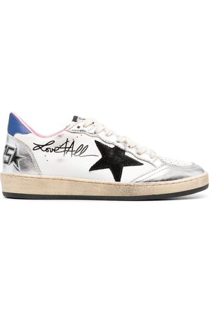 Golden Goose Ballstar signature print sneakers