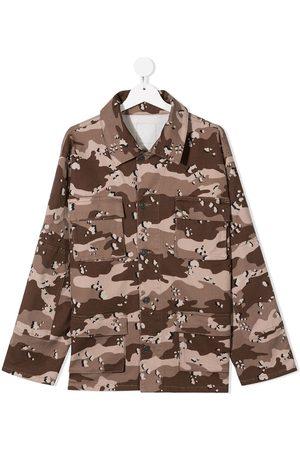 DOUUOD KIDS Girls Blouses - Camouflage cotton shirt
