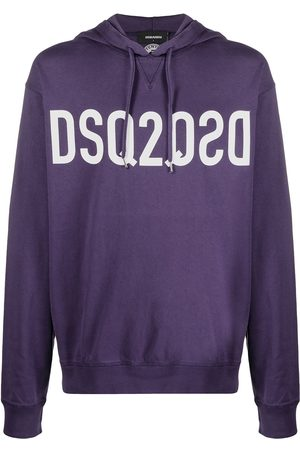 Dsquared2 Mirrored-logo cotton hoodie