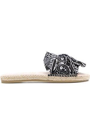 MANEBI Women Sandals - Bandana raffia sandals