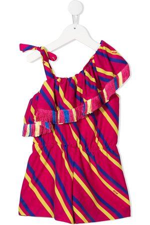 Msgm Girls Casual Dresses - One-shoulder striped dress