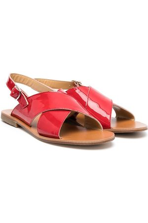 GALLUCCI TEEN buckled leather sandals