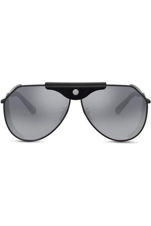 Dolce & Gabbana Logo-plaque goggle-frame sunglasses