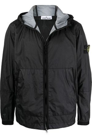 Stone Island Men Hoodies - Logo-patch zip-up windbreaker