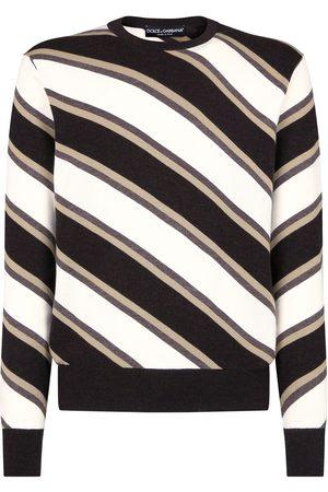 Dolce & Gabbana Men Jumpers - Diagonal-stripe jumper