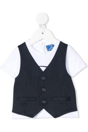 FAY KIDS Layered-look waistcoat T-shirt