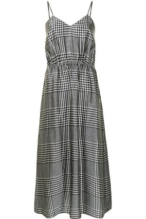 MM6 MAISON MARGIELA Women Printed Dresses - Check-print sleeveless midi dress