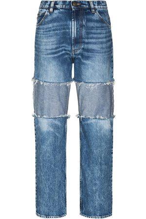 Maison Margiela Women Boyfriend - Reverse-panel high-rise boyfriend jeans