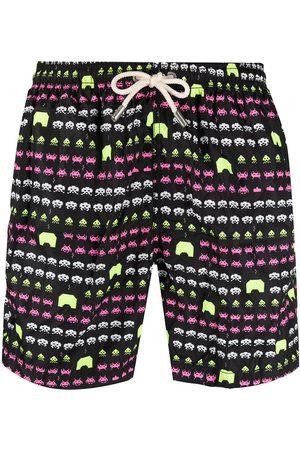 MC2 SAINT BARTH Men Swim Shorts - Videogame print swim shorts