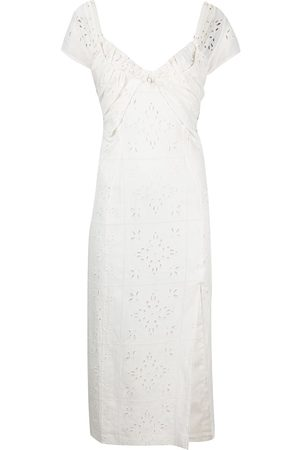 Jacquemus Women Party Dresses - Broderie anglaise midi sundress