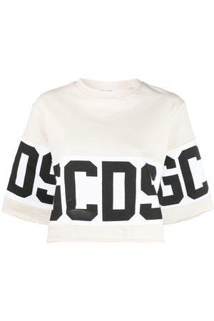 GCDS Women Jumpers - Logo-print cotton sweater