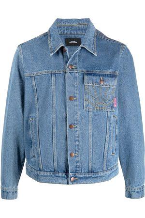 PACCBET Men Denim Jackets - Rassvet-embroidered denim jacket