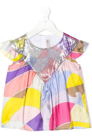 Emilio Pucci Abstract print embellished blouse