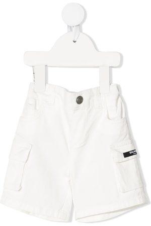 Balmain Baby Shorts - Logo patch shorts