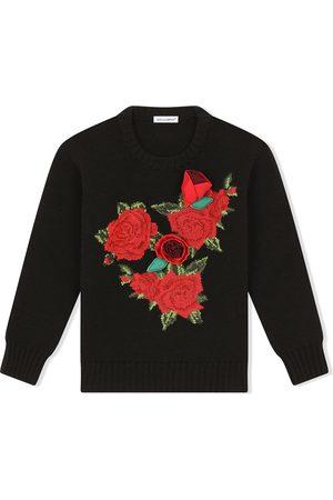 Dolce & Gabbana Crochet rose-patch jumper