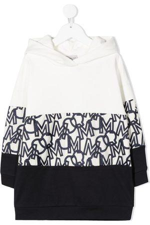 Moncler Girls Casual Dresses - Monogram-panel hooded dress