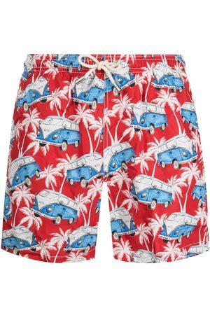MC2 SAINT BARTH Men Swim Shorts - Vintage bus print swim shorts