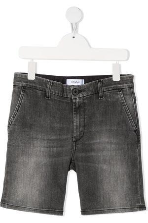 Dondup Boys Shorts - Grey-wash denim shorts