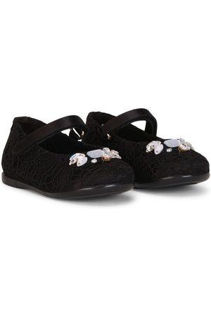 Dolce & Gabbana Girls Ballerinas - Crystal-embellished ballerinas