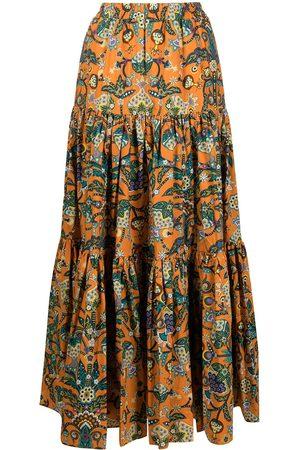 La DoubleJ Women Printed Skirts - Floral print maxi skirt