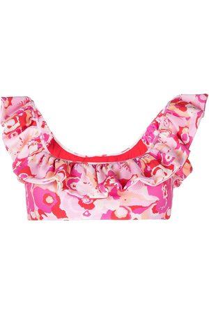 La DoubleJ Women Bikinis - Floral ruffle bikini top