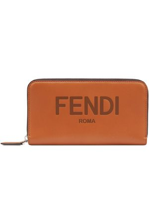 Fendi Men Wallets - Zip-around logo wallet