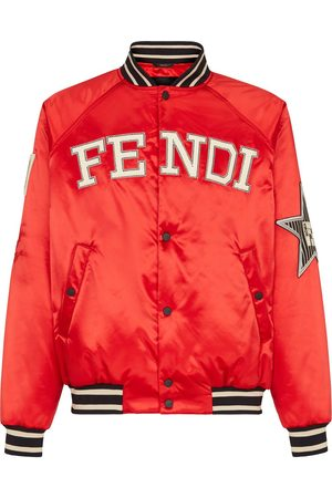 Fendi Men Bomber Jackets - Multi-patch bomber jacket