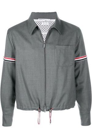 Thom Browne Striped zip-up shirt jacket