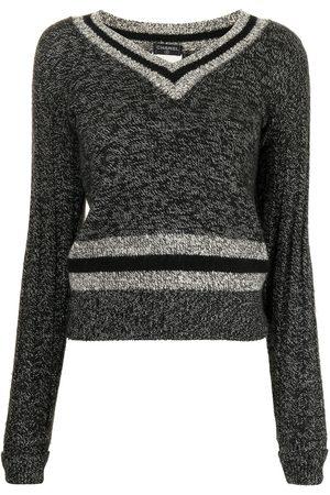 CHANEL Women Jumpers - 1998 V-neck knitted jumper