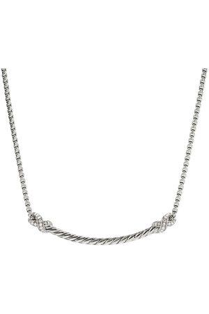 David Yurman X bar diamond necklace