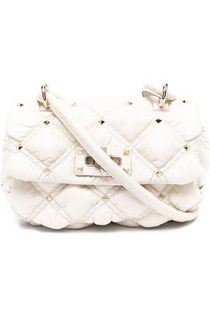 VALENTINO GARAVANI Women Shoulder Bags - Rockstud diamond quilted padded shoulder bag