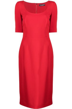 Dolce & Gabbana Women Midi Dresses - Scoop-neck silk midi dress