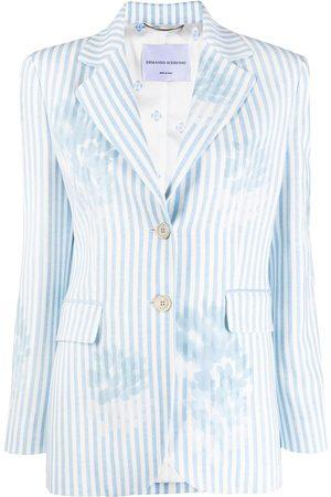 ERMANNO SCERVINO Women Blazers - Striped single-breasted blazer
