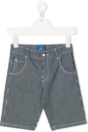 FAY KIDS Striped denim shorts